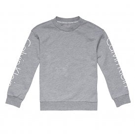Kids Unisex Logo Sweatshirt, Heather Grey