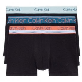 Cotton Stretch Limited Edition 3 Pack Trunk, Black With Vermount Slate/Soft Flair
