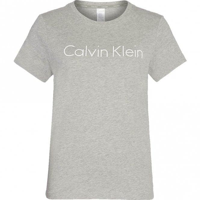 Calvin Klein Logo Crew Neck T-Shirt, Heather Grey