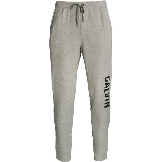 Calvin Klein Logo Cuffed Sweatpants, Heather Grey