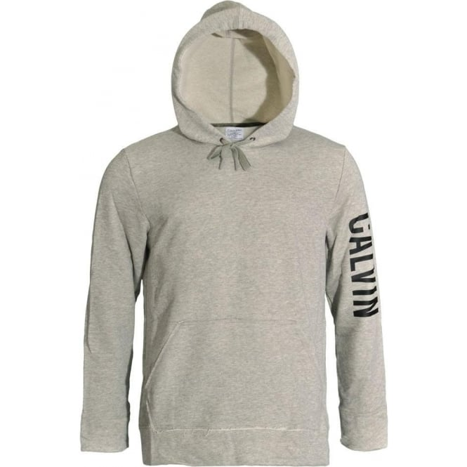 Calvin Klein Pull Over Logo Hoodie, Heather Grey