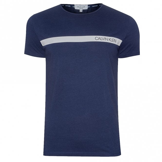 Calvin Klein Logo Relaxed Crew Neck T-Shirt, Blue Shadow