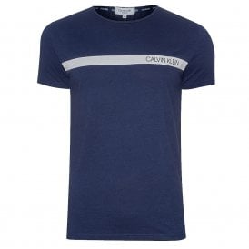 Logo Relaxed Crew Neck T-Shirt, Blue Shadow