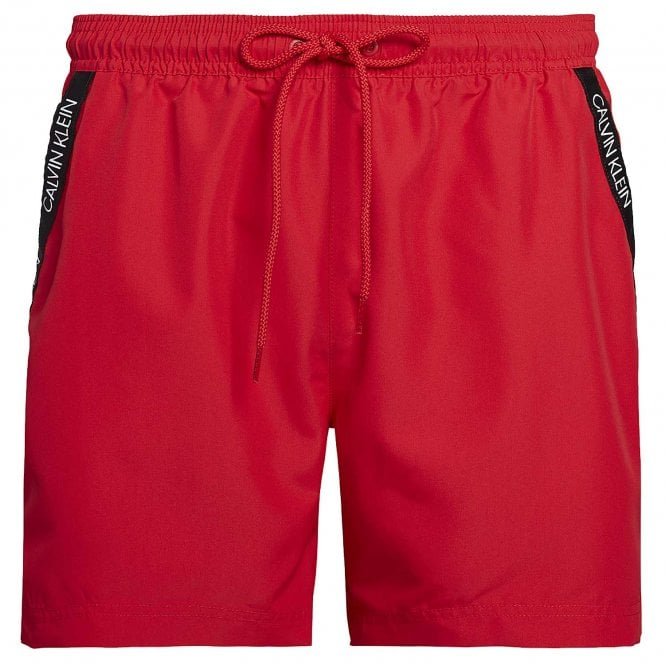 Calvin Klein Medium Drawstring Swim Shorts, Lipstick Red
