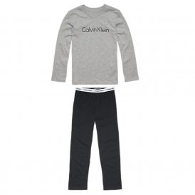 Modern Cotton Boys Knit PJ set, Grey / Black