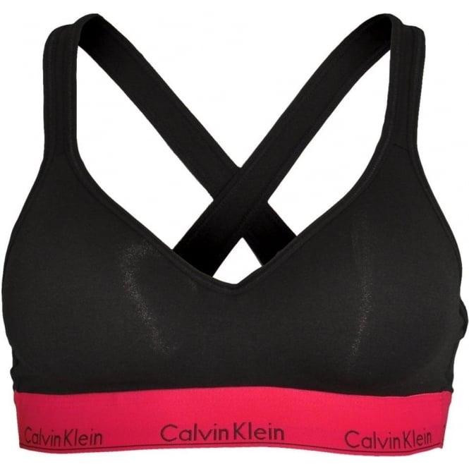 Calvin Klein Modern Cotton Bralette Lift, Black With Empower