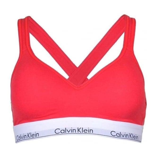 Calvin Klein Modern Cotton Bralette Lift, Red
