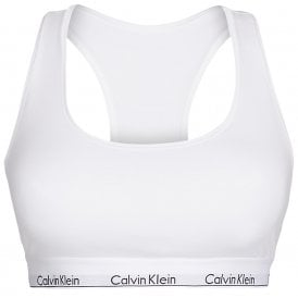 Modern Cotton Plus Bralette, White
