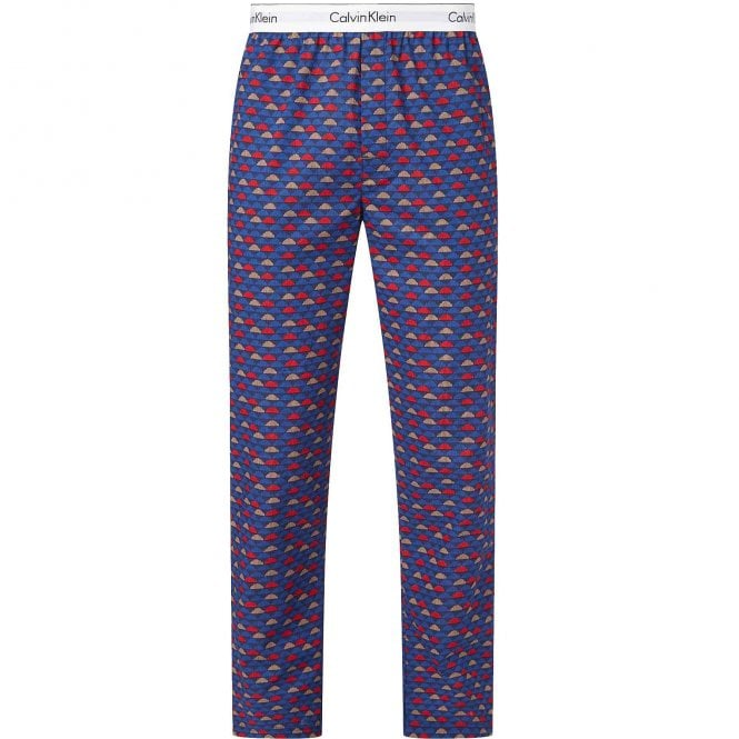 Calvin Klein Modern Cotton Pyjama Pants, Cloud Geo/Chino Blue