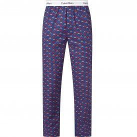 Modern Cotton Pyjama Pants, Cloud Geo/Chino Blue
