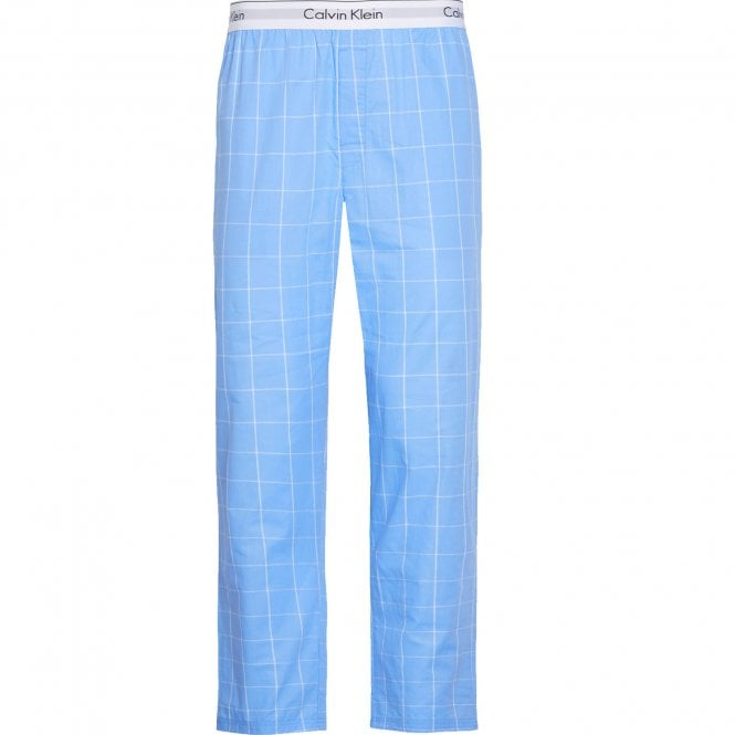 Calvin Klein Modern Cotton Pyjama Pants, Modern Window - Blue Bay