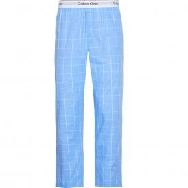 Modern Cotton Pyjama Pants, Modern Window - Blue Bay
