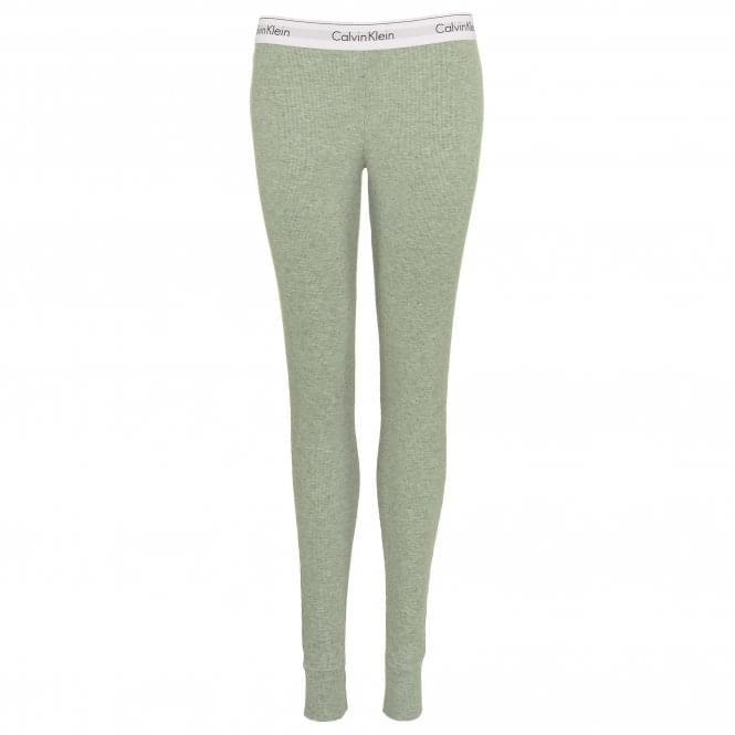 Calvin Klein Modern Cotton Ribbed Modal Legging, Graphic Rib / Heather Grey