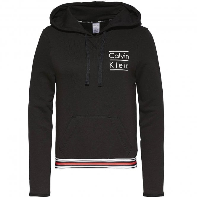 Calvin Klein Modern Cotton Stacked Logo Hoody, Black