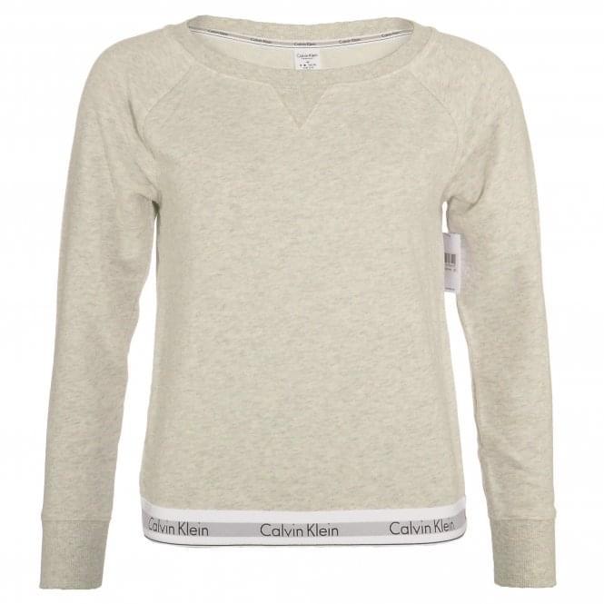 Calvin Klein Modern Cotton Sweatshirt, Snow Heather - Neon Neps
