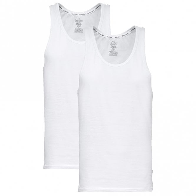 Calvin Klein Modern Cotton Tank Top 2-Pack, White