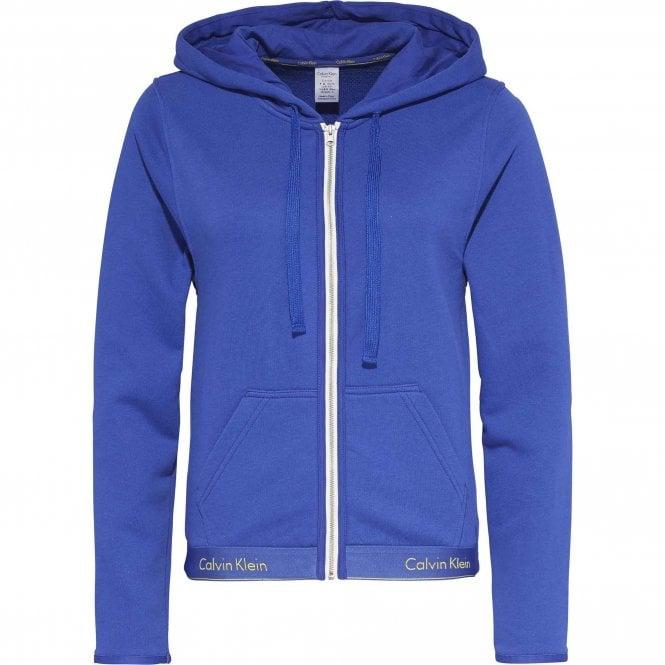 Calvin Klein Modern Cotton Zip Hoody, Pure Cerulean Blue
