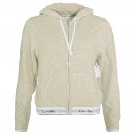 Modern Cotton Zip Hoody, Snow Heather - Neon Neps