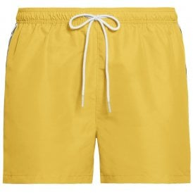 Mono Tape Short Drawstring Swim Shorts, Mimosa