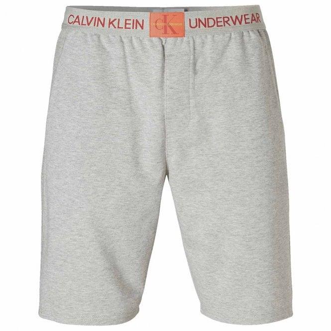 Calvin Klein Monogram Pyjama Short, Heather Grey