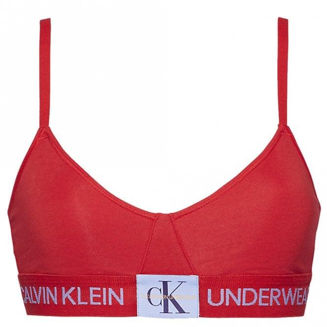 Calvin Klein Monogram Unlined Triangle Bra, Manic Red