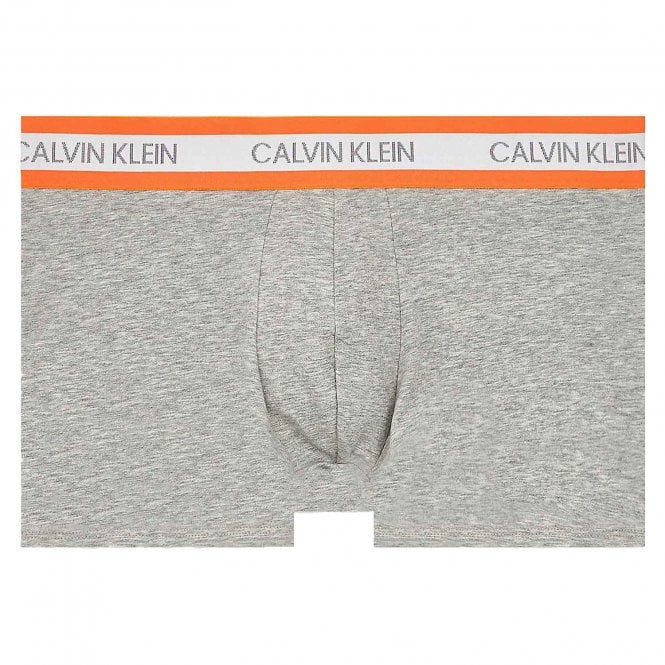 Calvin Klein Neon Cotton Stretch Trunk, Grey / Orange