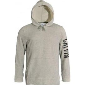 Pull Over Logo Hoodie, Heather Grey