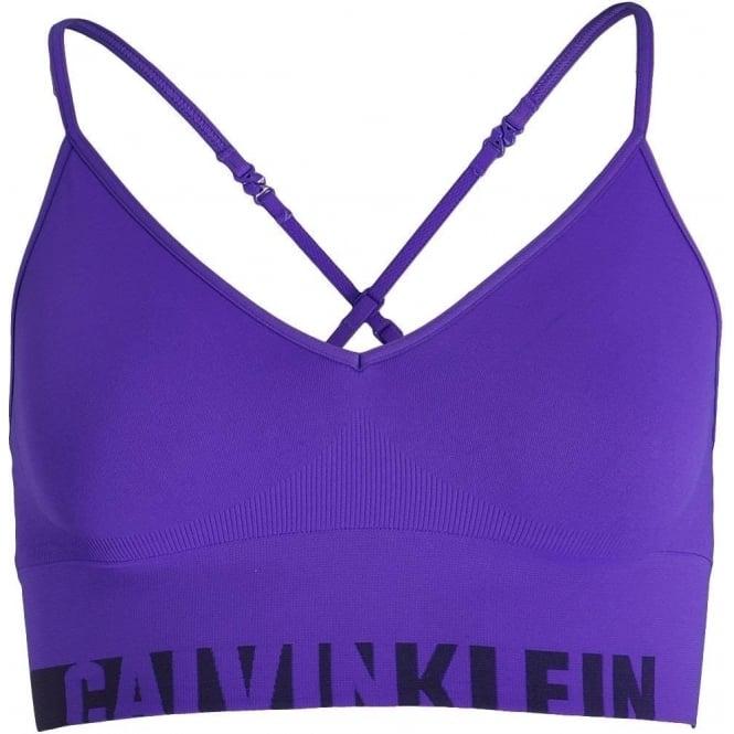 Calvin Klein Seamless Logo Bralette, Polymer Blue