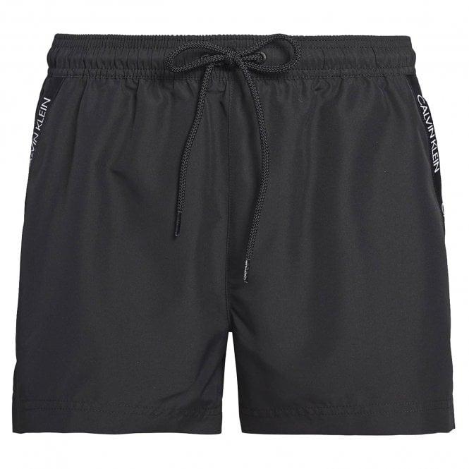 Calvin Klein Short Drawstring Swim Shorts, Black