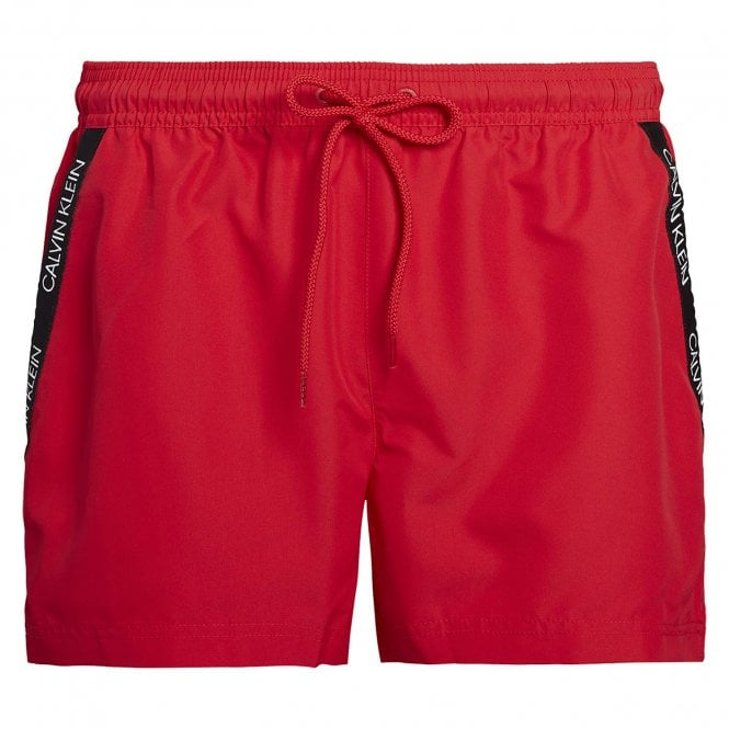 Calvin Klein Short Drawstring Swim Shorts, Lipstick Red