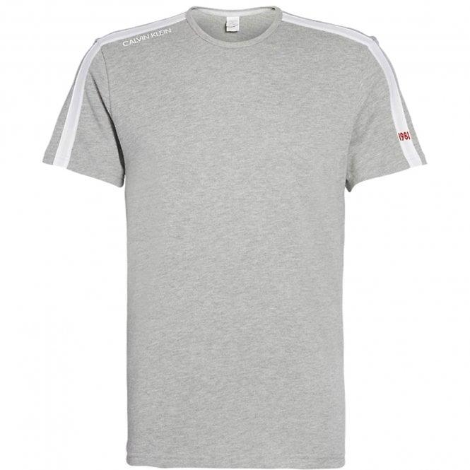 Calvin Klein Short Sleeve Sweatshirt, Heather Grey