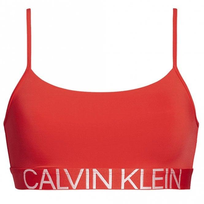 Calvin Klein Statement 1981 Reversible Bra, Fever Dream Red