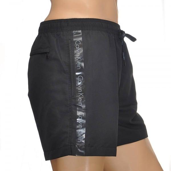 53c98f11d4e Calvin Klein Swimwear - CK One Logo Tape Swim Shorts Black