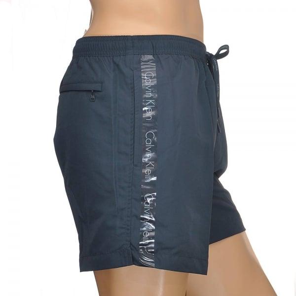 f820d1f429 Calvin Klein Swimwear - CK One Logo Tape Swim Shorts Navy Blue