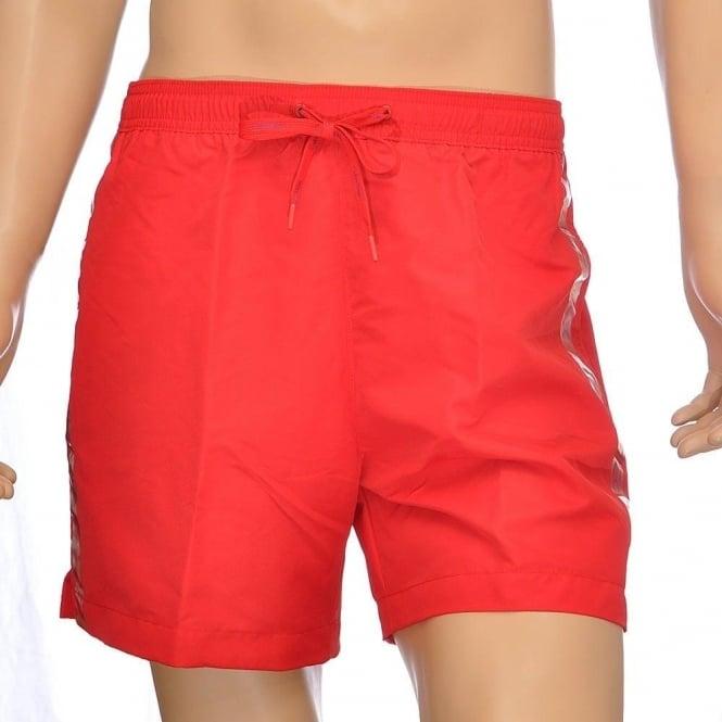 44fbcb16bd Calvin Klein Swimwear - CK One Logo Tape Swim Shorts Red