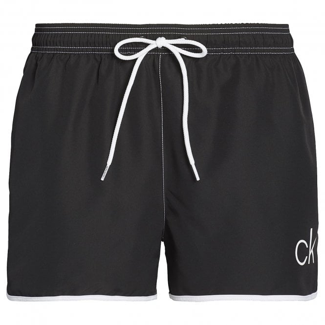 Calvin Klein CK Retro Short Runner Swim Shorts, Black