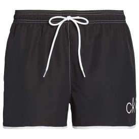 CK Retro Short Runner Swim Shorts, Black