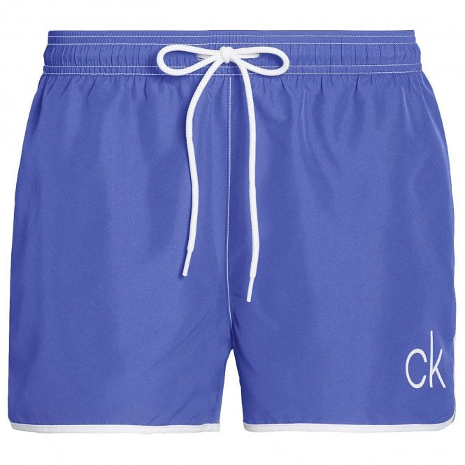 Calvin Klein CK Retro Short Runner Swim Shorts, Deep Ultramarine