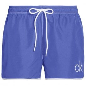 CK Retro Short Runner Swim Shorts, Deep Ultramarine