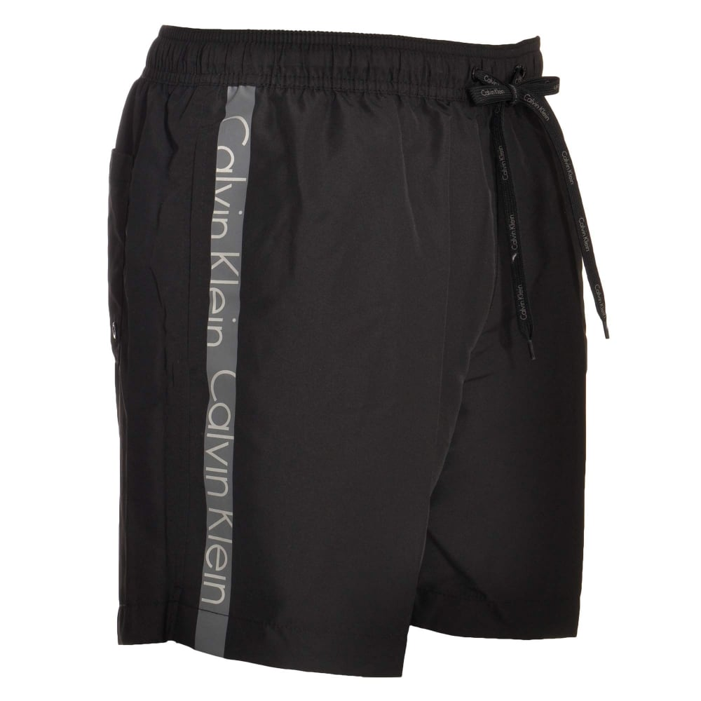 9c4bede95a Calvin Klein Swimwear - Core Logo Tape Swim Shorts Black