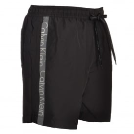 Core Logo Tape Swim Shorts, Black