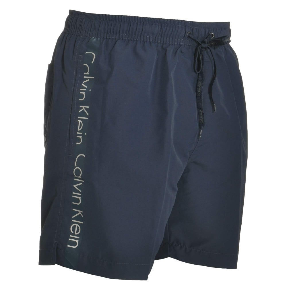 314ab9019b Calvin Klein Swimwear - Core Logo Tape Swim Shorts Blue Shadow