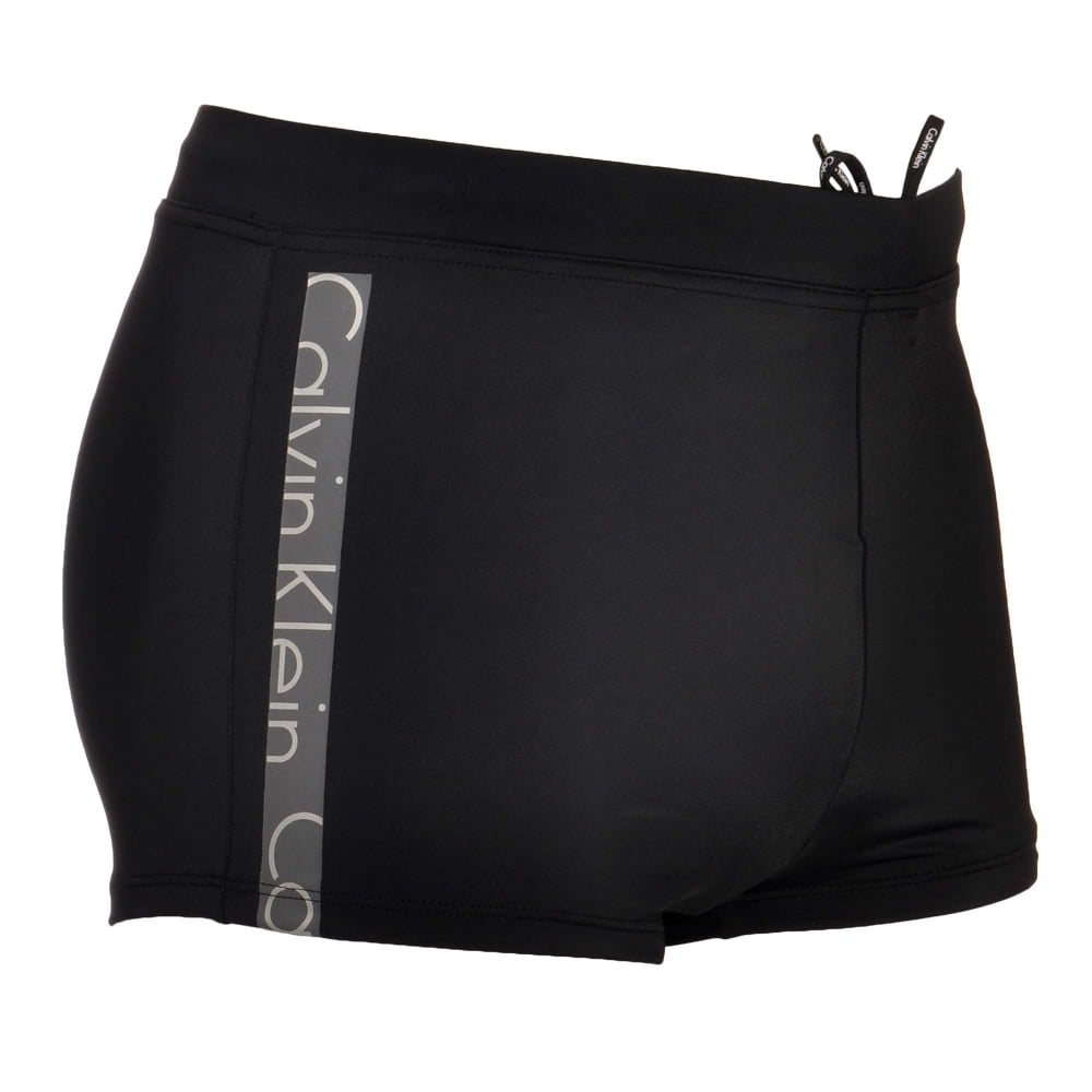 fff5363d6f Calvin Klein Swimwear - Core Logo Tape Swim Trunks Black