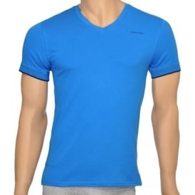 Core Solid Short Sleeve V-Neck T-Shirt, Blue