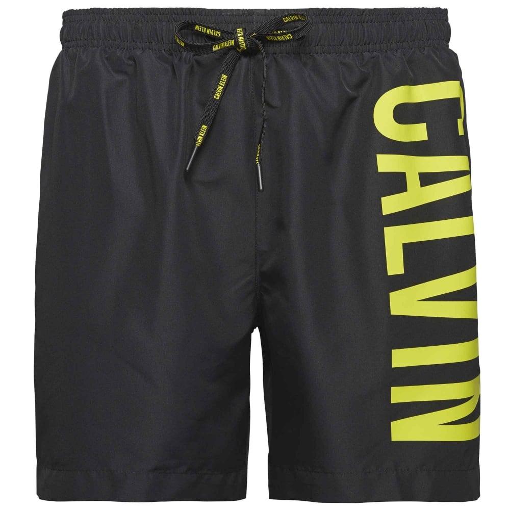 fc235119f0 Calvin Klein Swimwear - Intense Power Swim Shorts Black / Yellow