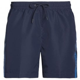 Medium Drawstring Swim Shorts, Blue Shadow
