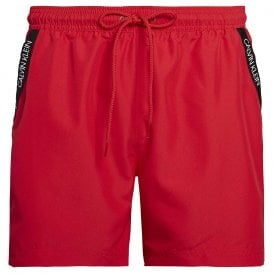 Medium Drawstring Swim Shorts, Lipstick Red