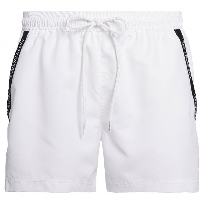 Calvin Klein Short Drawstring Swim Shorts, White