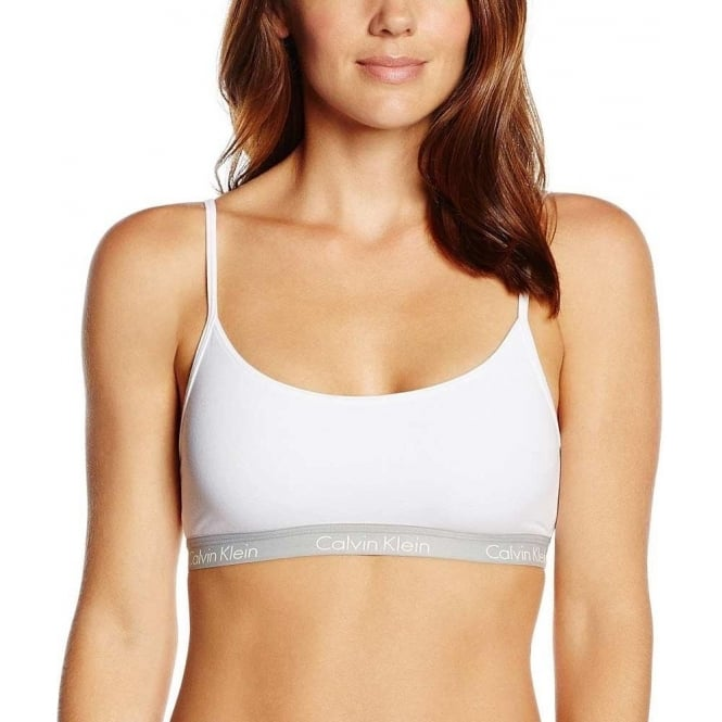 28c86067a9c838 Calvin Klein Women CK One Cotton Bralette White