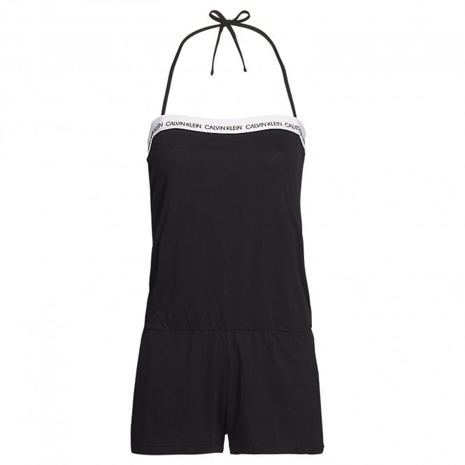 Calvin Klein Women Cotton Bandeau Romper Beachwear / Playsuit, Black